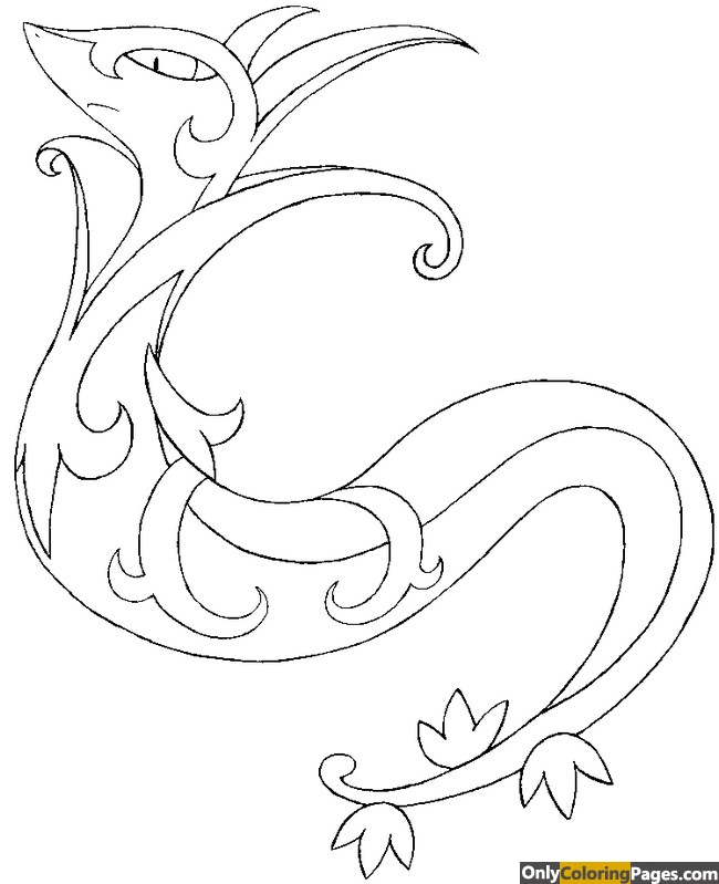 serperior coloring pages