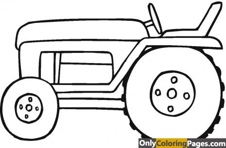 simple tractor coloring pages
