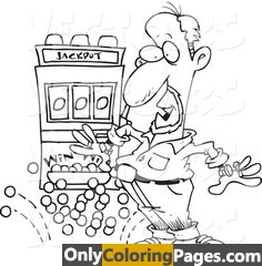 slot machine coloring pages