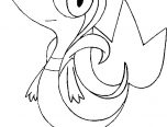 snivy coloring pages