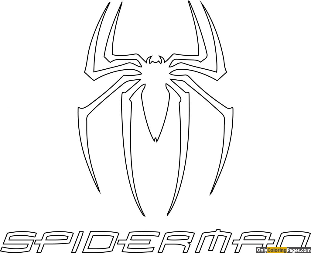Spiderman Logo Coloring Pages Free Printable Online