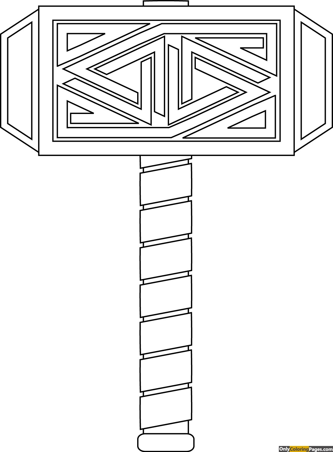 thor logo coloring pages