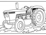 tractor coloring pages for toddlers