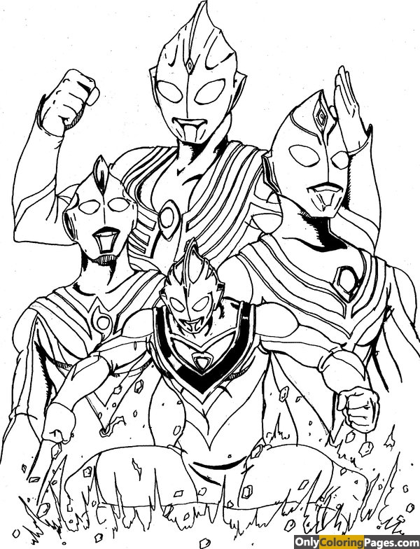 ultraman, pages, coloring