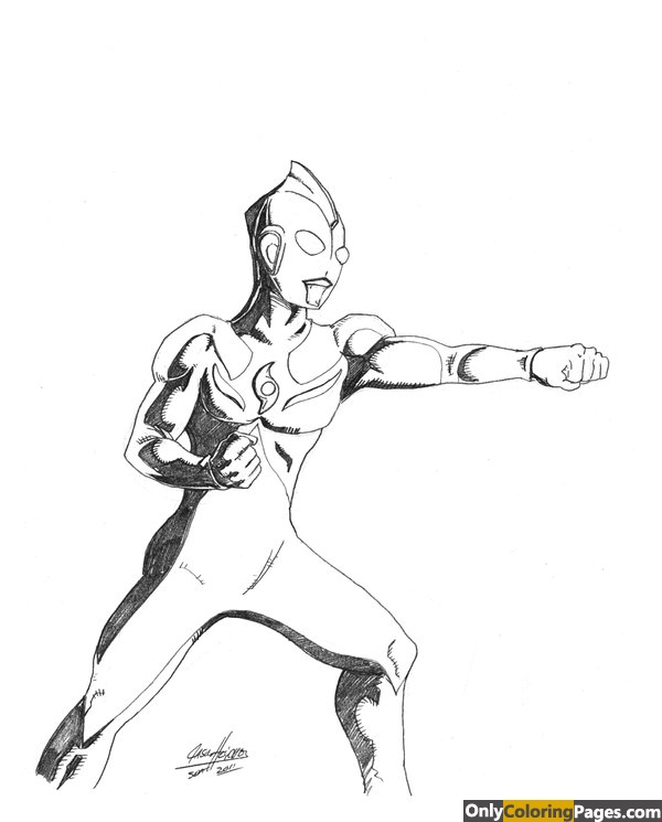 ultraman coloring pages - photo#28
