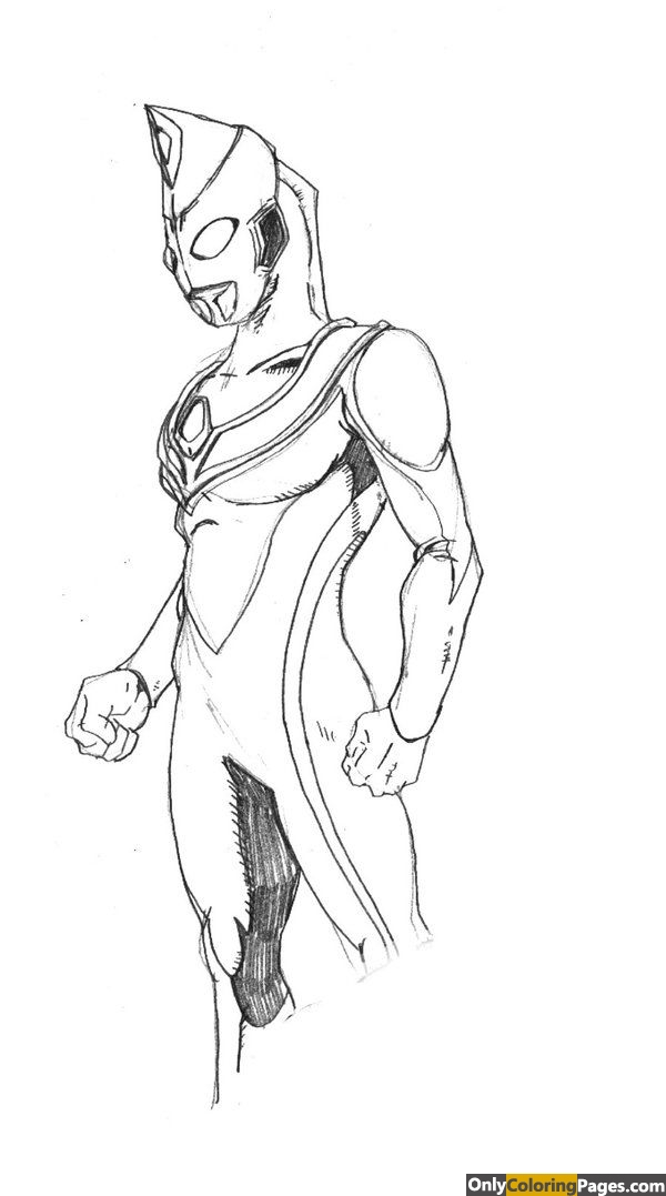 ultraman gaia coloring pages