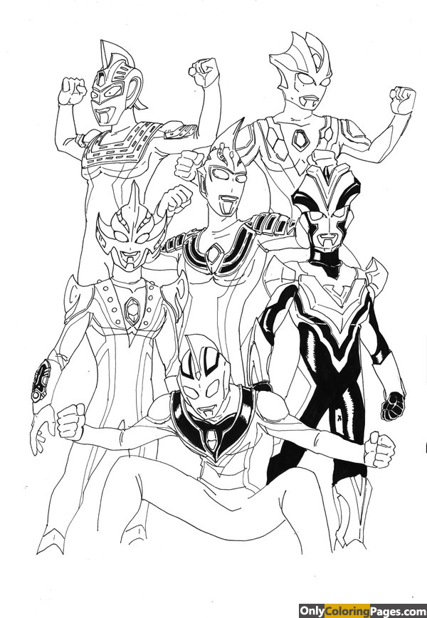 ultraman, pages, mebius, coloring
