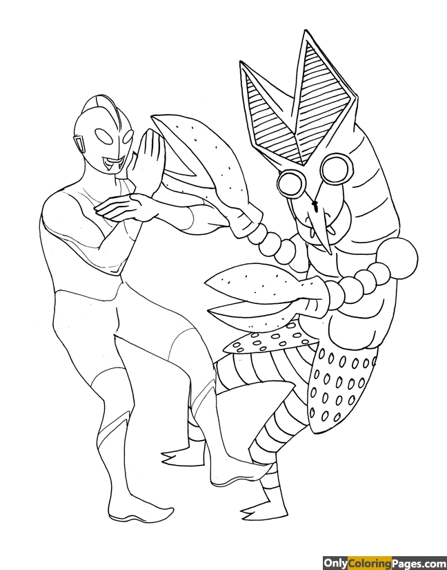 ultraman coloring pages - photo#39