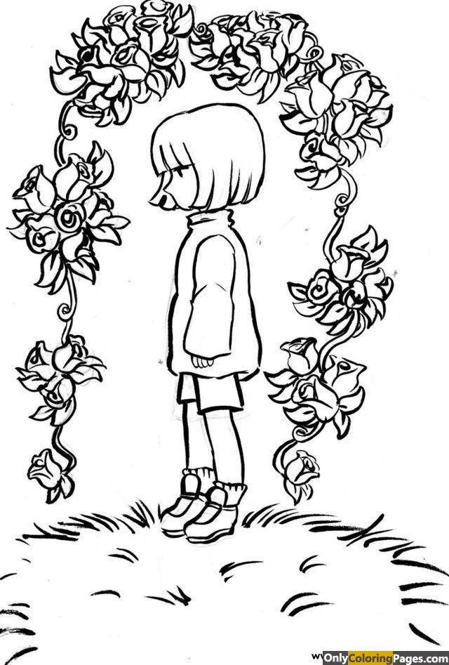 undertale coloring pages frisk