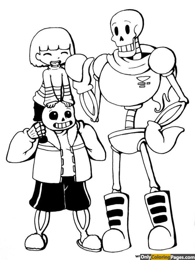 undertale, pages, coloring