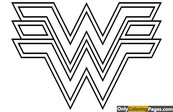 wonder, woman, pages, logo, coloring