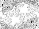 Fish Whimsical Coloring Book for adults