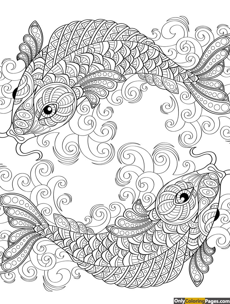 whimsical, fish, colouring, coloringpages, coloringbook, coloring, Book, adults