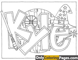 free personalized name coloring pages - photo#27