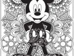 detailed mickey mouse coloring book for adults