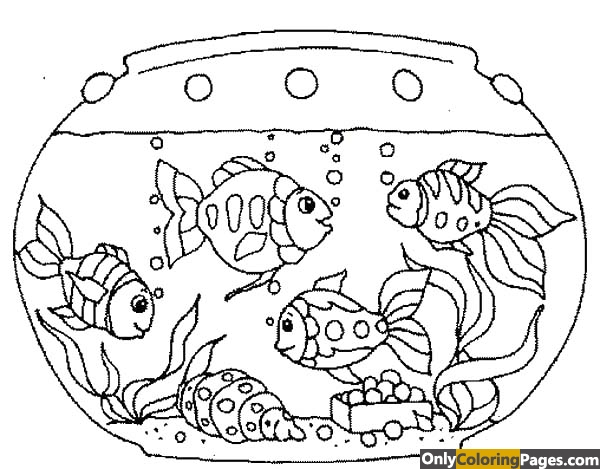 fish tank coloring pages