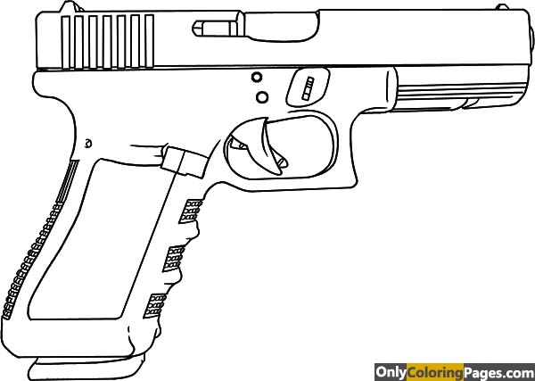 gun coloring pages glock