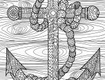 hard detailed anchor coloring pages