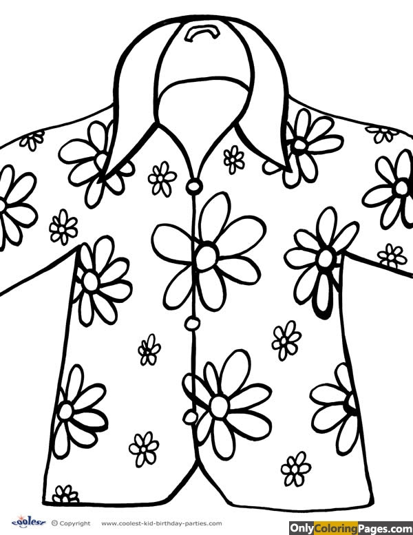 hawaiian luau coloring pages
