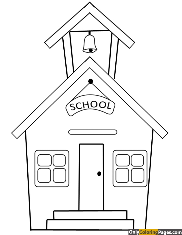 I love my school coloring pages