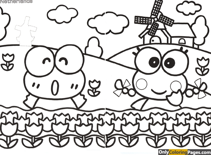 keroppi coloring pages