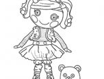 lalaloopsy coloring pages mittens