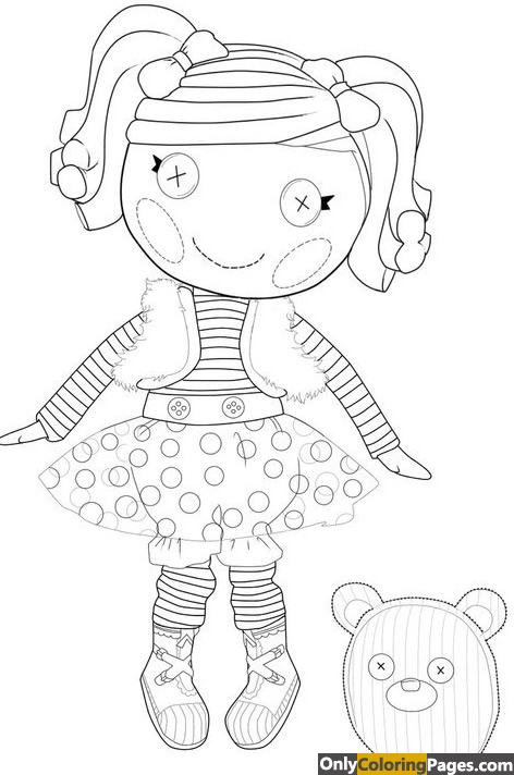 pages, lalaloopsy, coloring