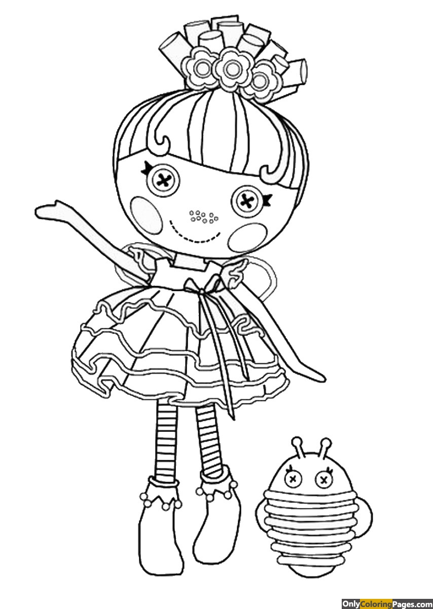Lalaloopsy mermaid coloring pages free printable online for Lalaloopsy coloring pages