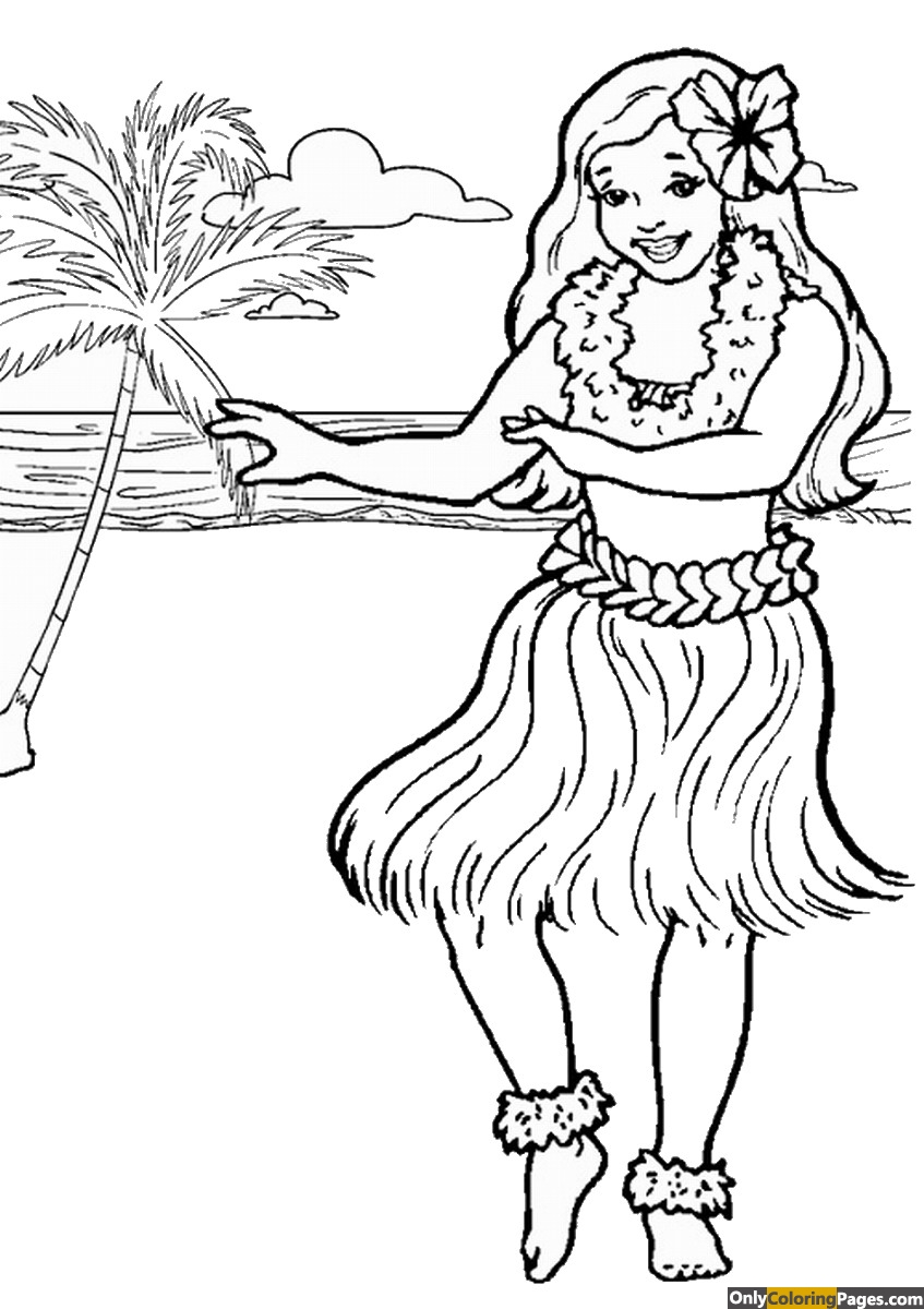 pages, luau, coloring