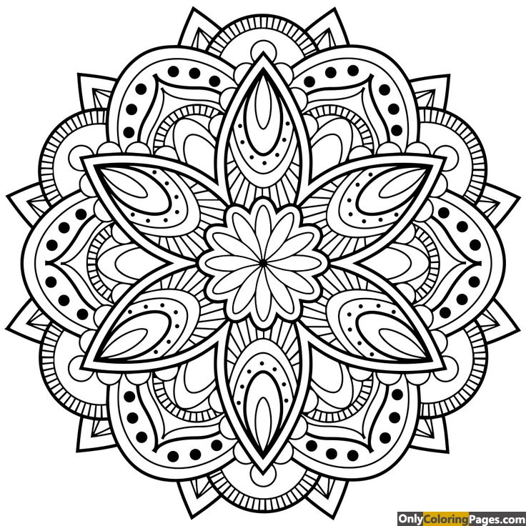 mandala flower coloring pages for adults