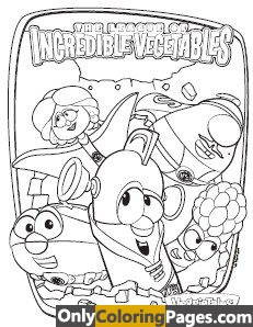 the league of incredible vegetables coloring pages