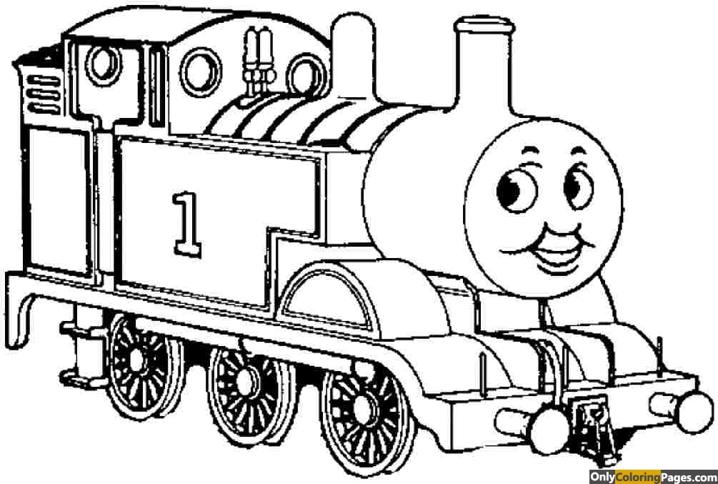 thomas the tank coloring pages