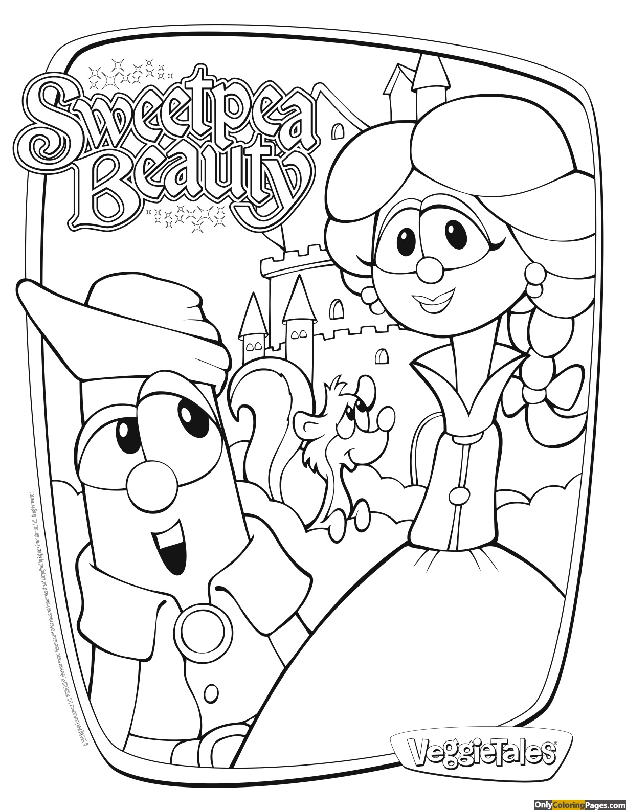 veggie tales coloring pages Free