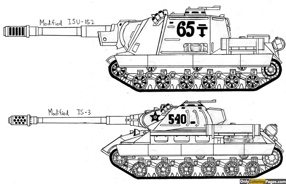 Ww2 Tank Coloring Pages Free Printable Online Ww2 Tank Coloring - Ww2-coloring-pages