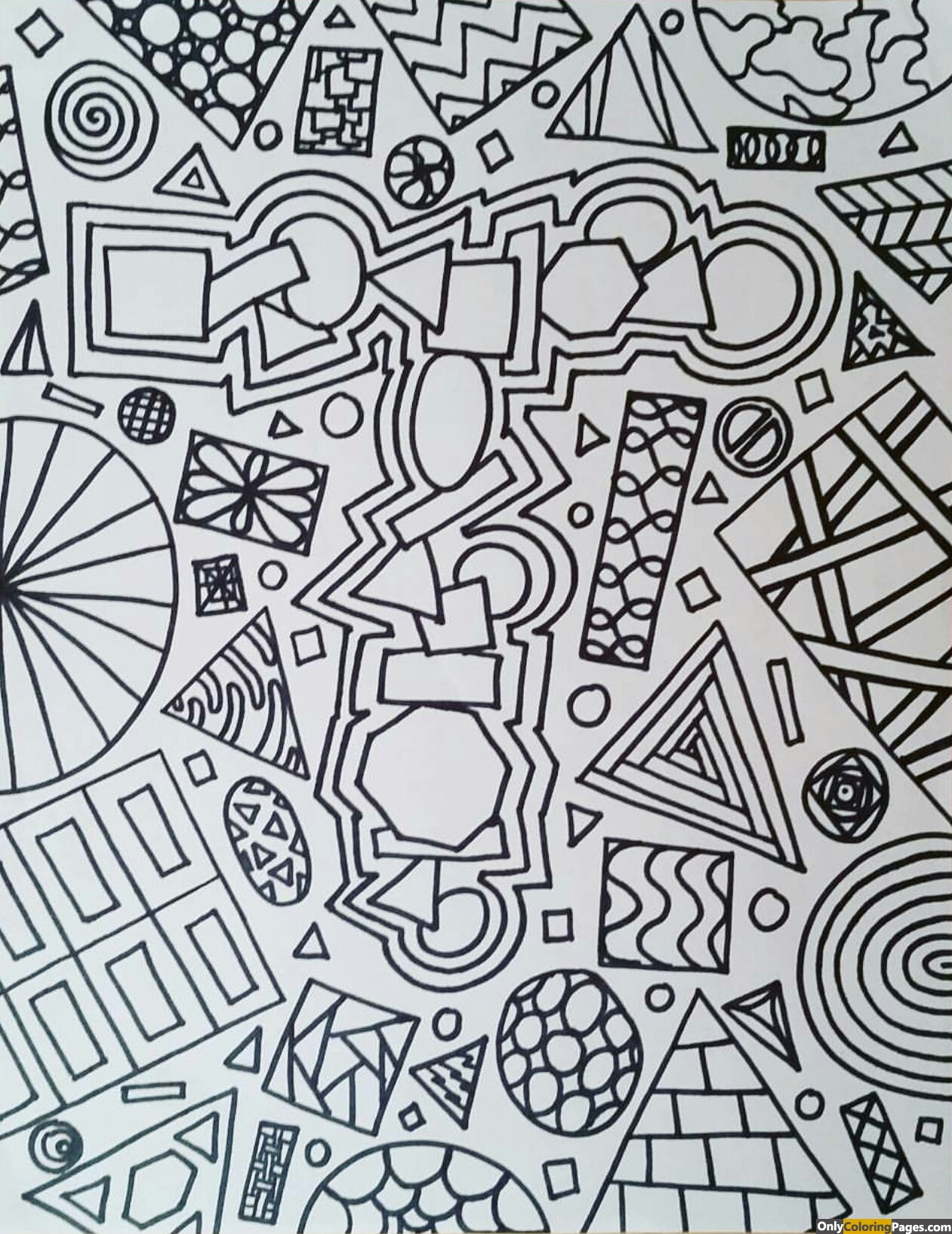 Fantastic & Realistic Shapes Coloring Pages