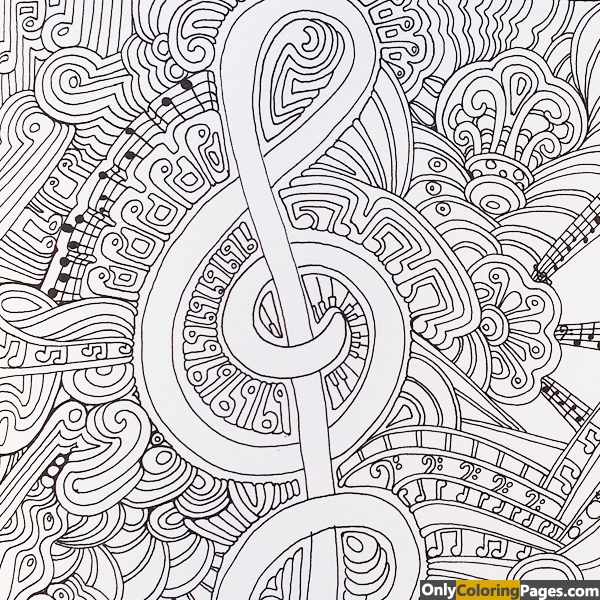 Zen Art Musical Coloring Pages