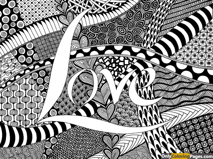 Zen Coloring Pages Love Word