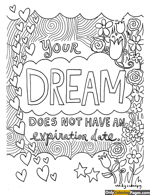 adults coloring pages sayings