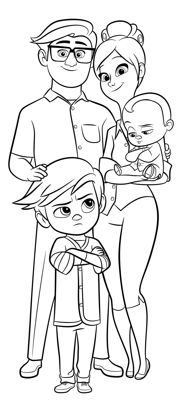 Boss Baby Coloring Pages