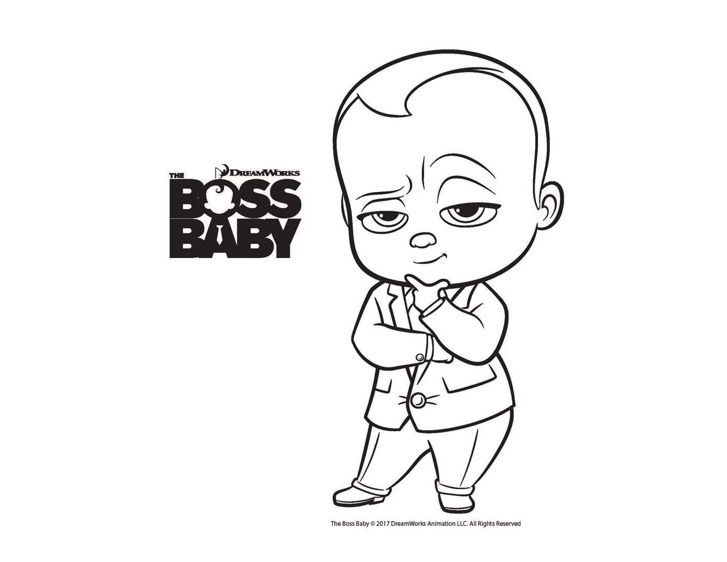 pages, coloring, Boss, baby