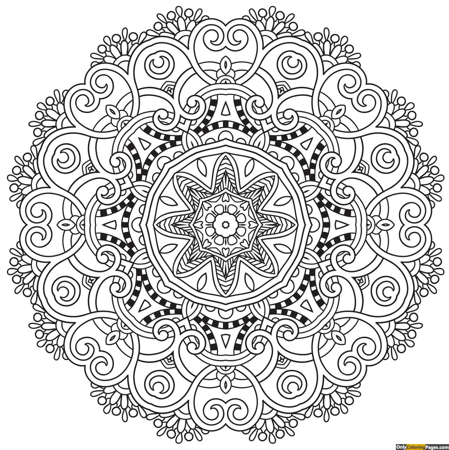 Clean Mandala Coloring Page Free Printable Online Clean