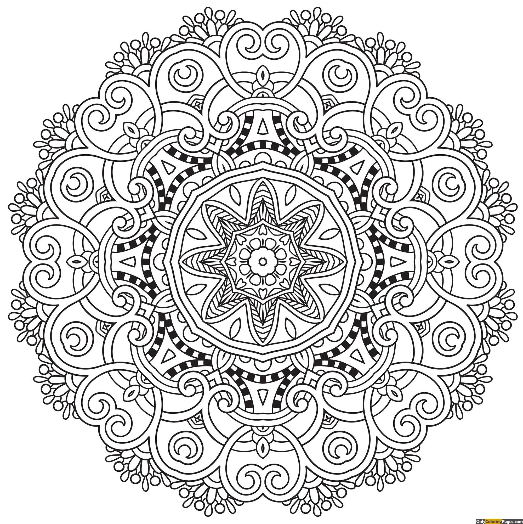 Clean Mandala Coloring Page