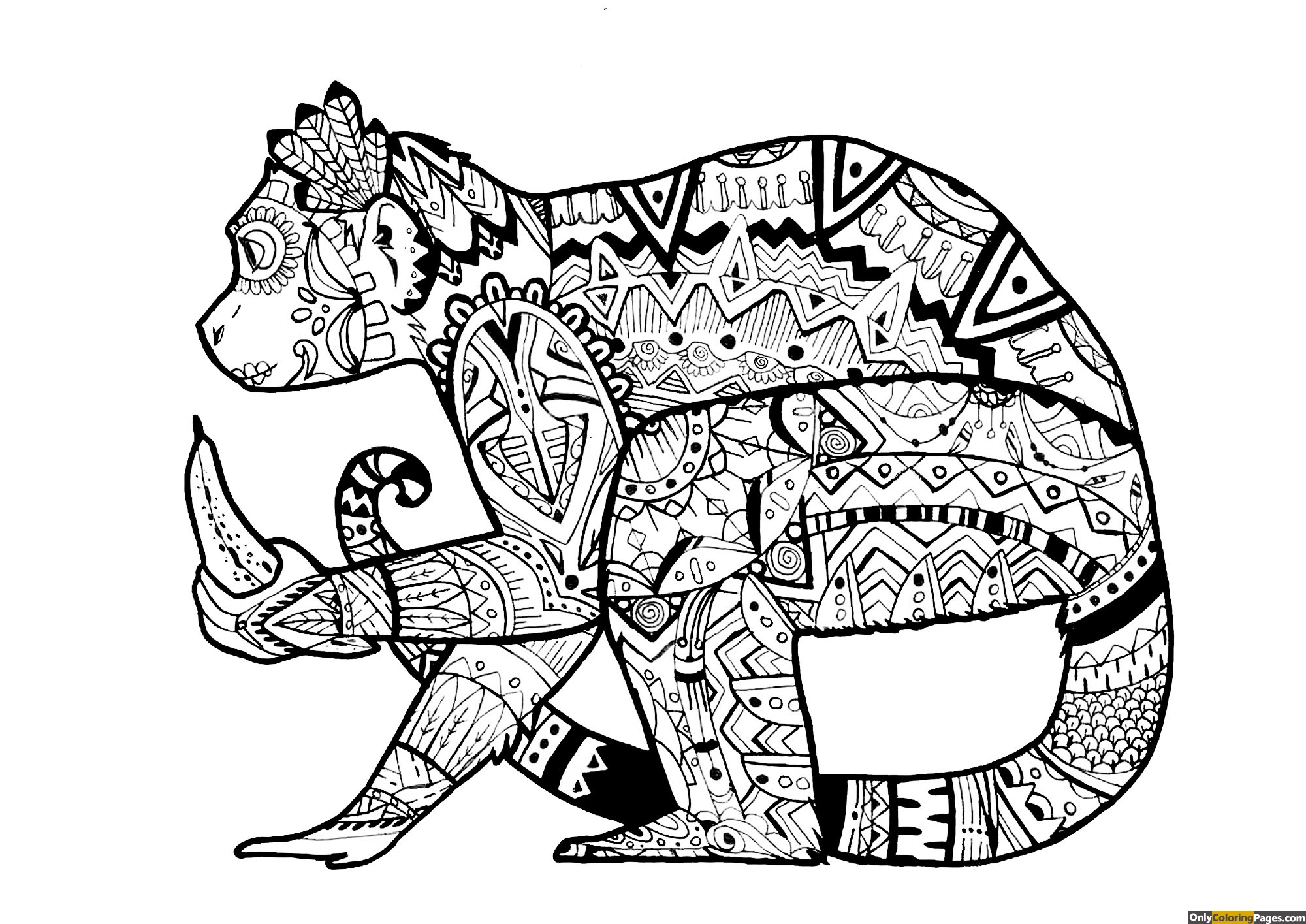 expert level monkey mandala coloring page