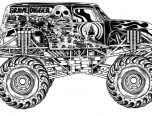 Monster Truck Danger Coloring Pages