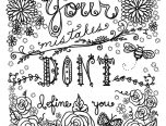 your mistakes dont define you adults coloring pages