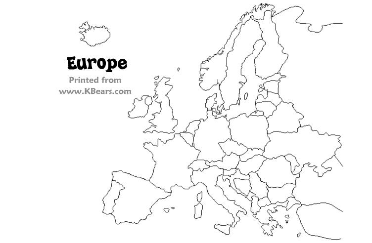 Color Europe Map Coloring Page For Kids Only Coloring Pages