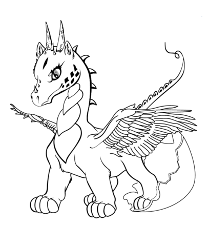 Dragon Coloring Pages Baby