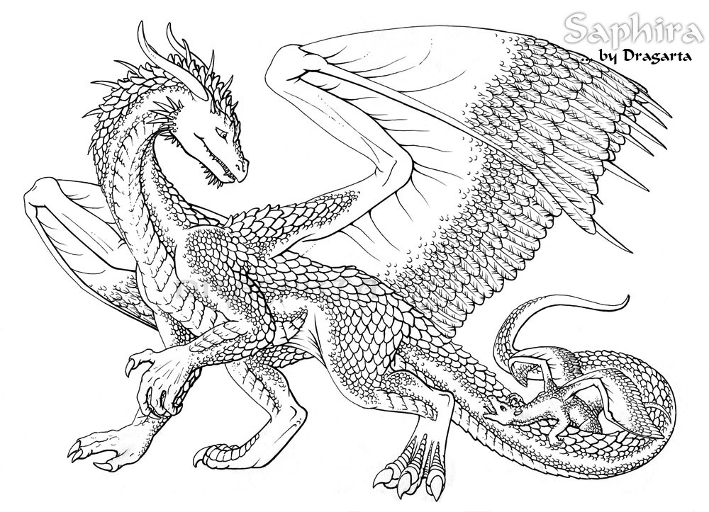 Dragon Coloring Pages Best