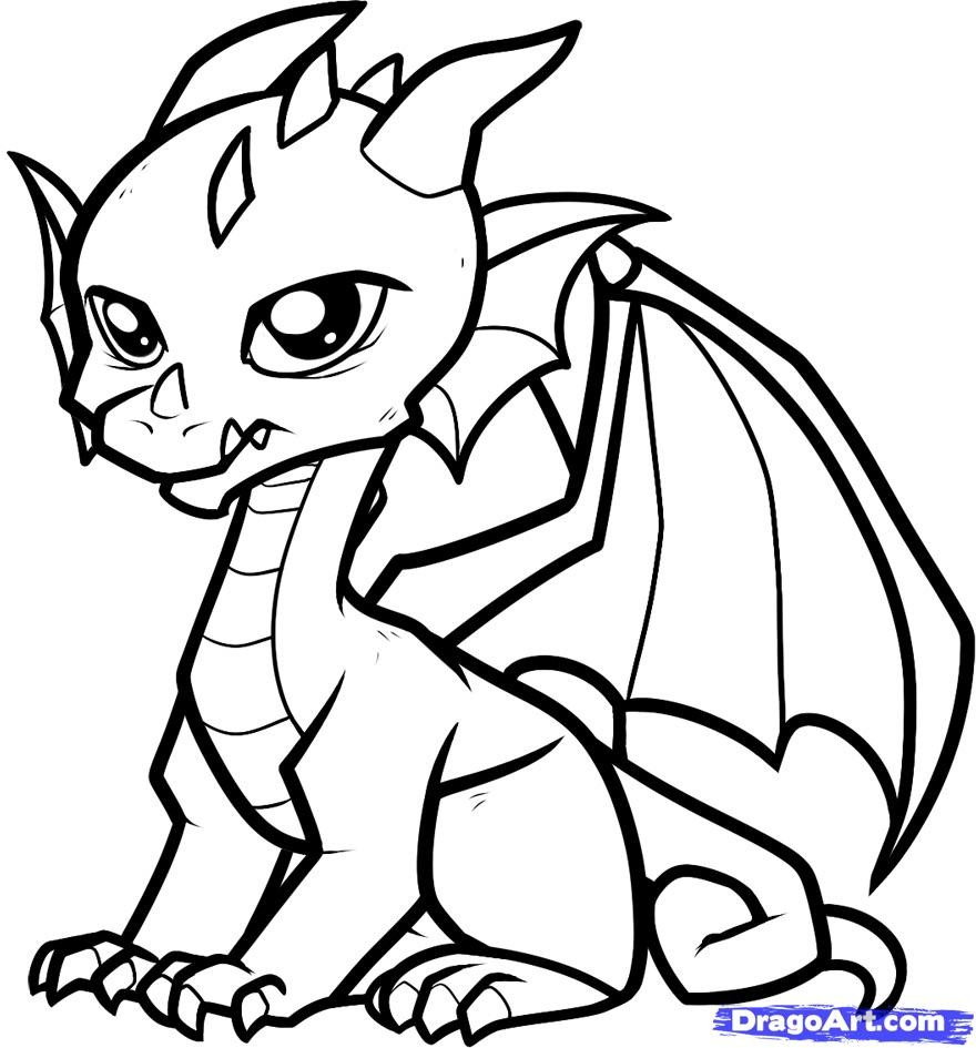Dragon Coloring Pages Drawing Pictures