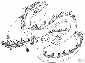 dragon coloring pages eastern  free coloring pages